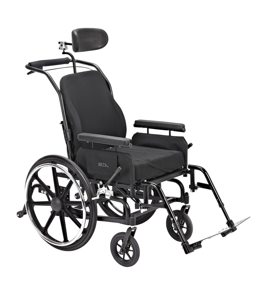New broda comfort tilt manual wheelchair model 587 for Handicap wheelchair
