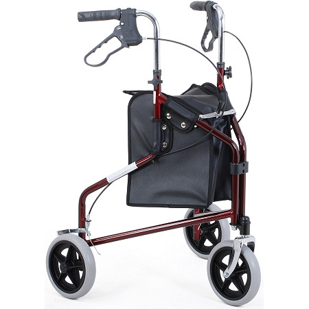 Merits 3-Wheeled Steel Rollator, Loop Brake