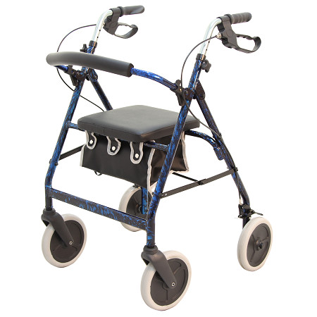 Merits 4-Wheeled Aluminum Rollator, Loop Brake, 8