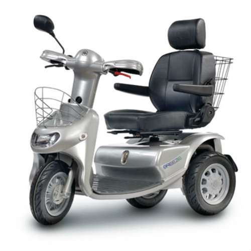 Afikim Breeze 3-Wheel Scooter w/ optional Wide Seat and Golf Wheels
