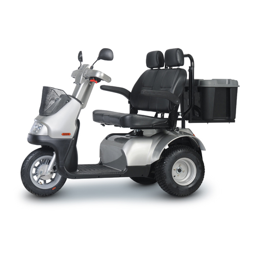 Afikim Breeze S 3-Wheel Scooter w/ optional Wide Seat and Golf Wheels