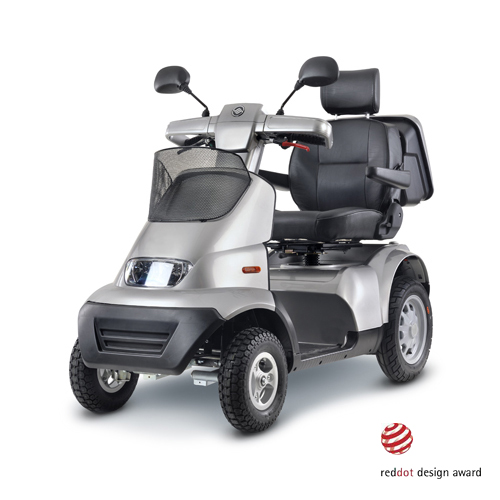 Afikim Breeze S 4-Wheel Scooter w/ optional Wide Seat and Golf Wheels