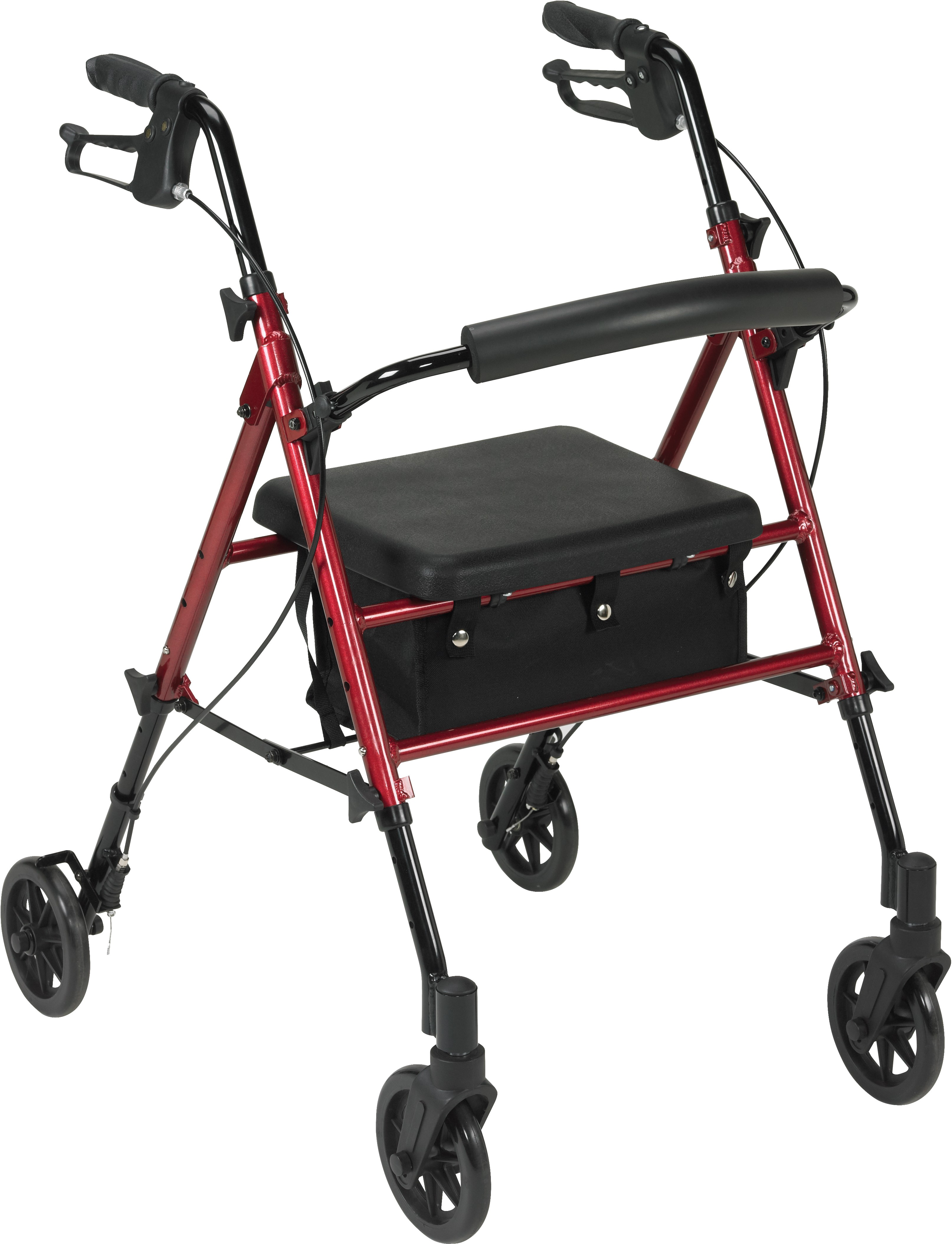 Drive Medical Adjustable Height Rollator, 6