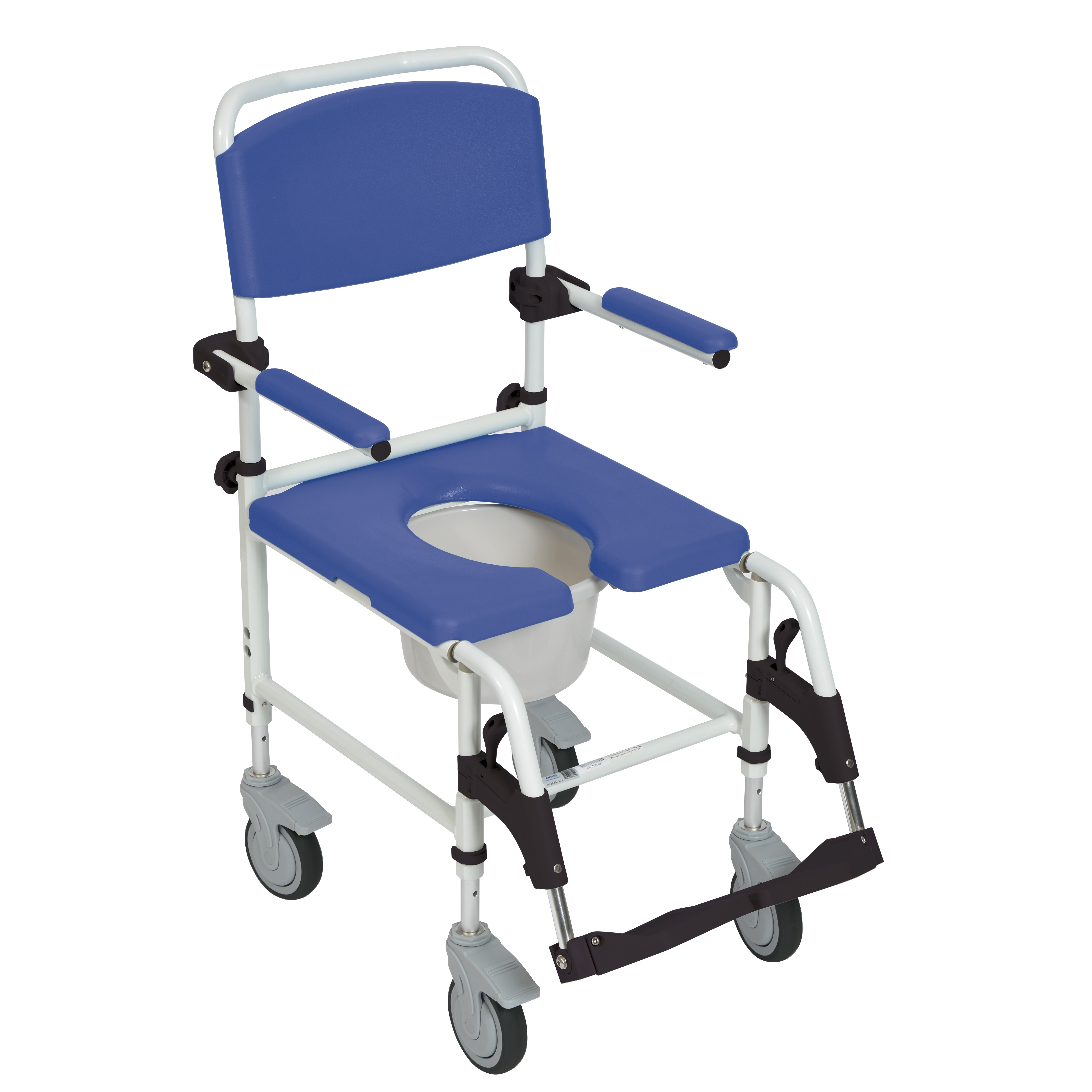 Drive Medical Aluminum Rehab Shower mode Chair with Four Rear