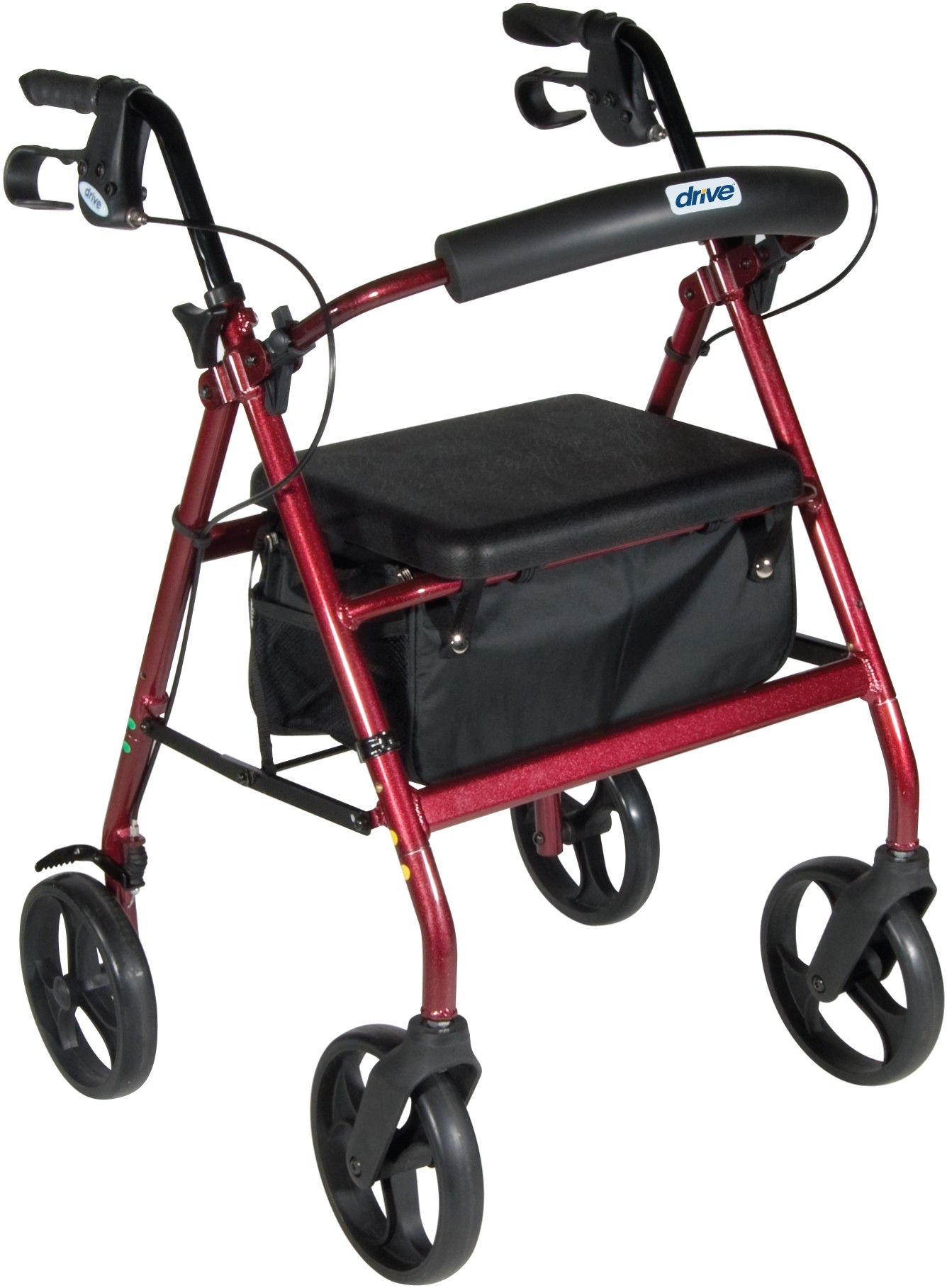 Drive Medical Aluminum Rollator, 7.5