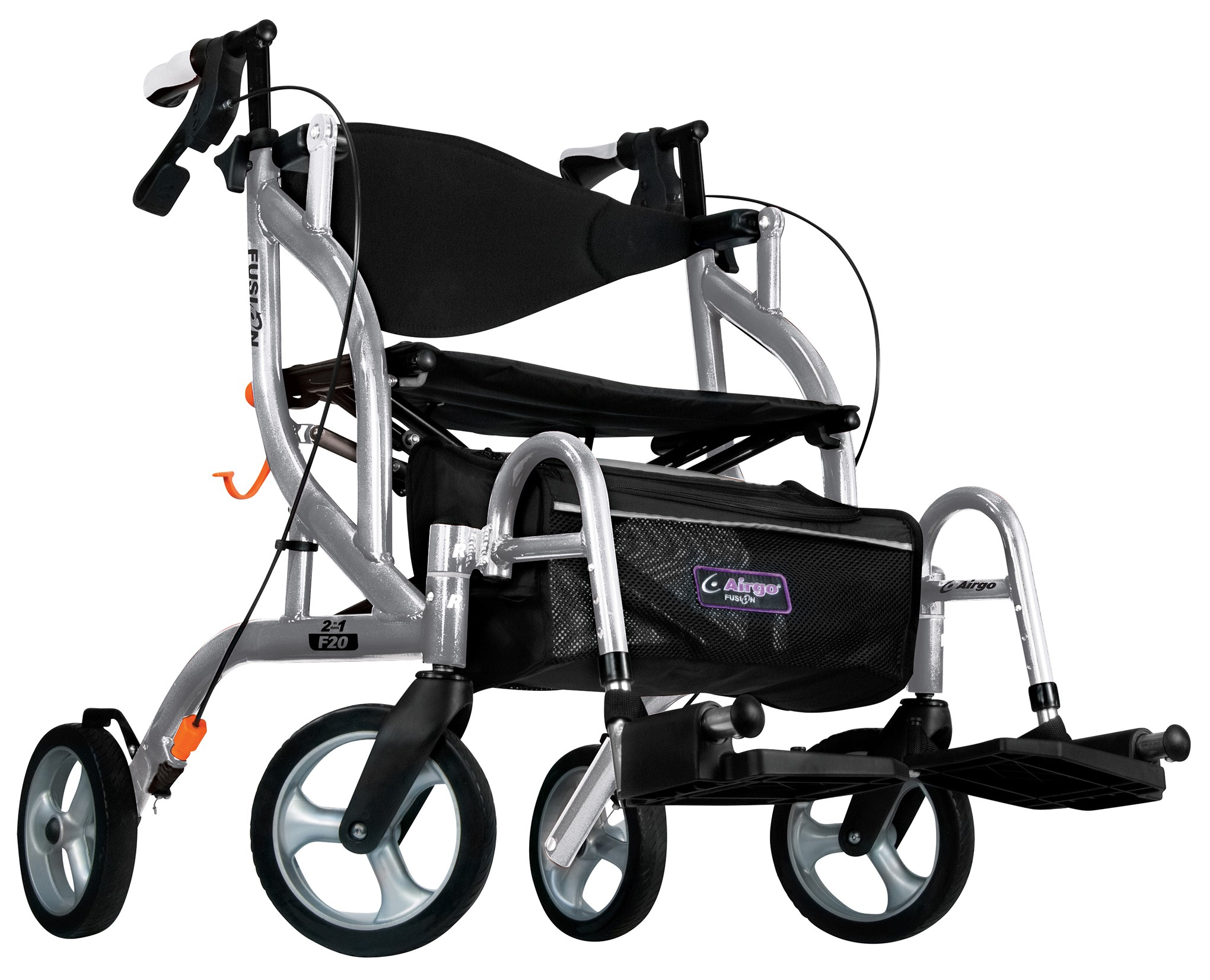 Airgo Fusion F20 Side Folding Rollator Amp Transport Chair