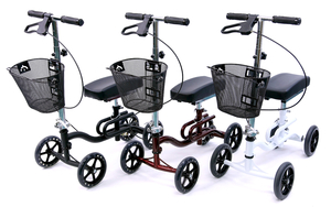 Karman KW-100 Luxury Lightweight 4-Wheeled Knee Walker w/ Basket