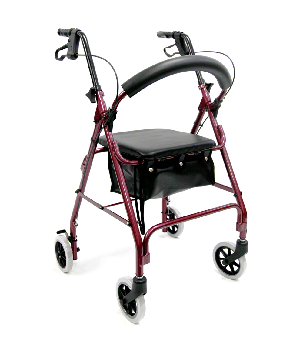 Karman R-4600 Lightweight Standard Rollator with Padded Seat and Backrest