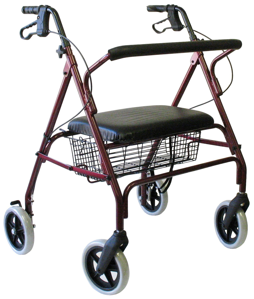 Karman R-4700 Extra Wide Bariatric Rollator with Padded Flip-down ...