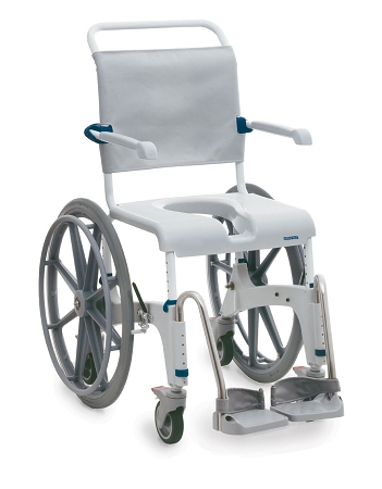 OceanSP Shower Commode Chair with Self Propel Wheels
