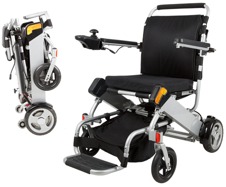Lightweight folding electric wheelchair for Lightweight motorized folding wheelchair