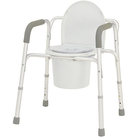 Merits Deluxe 3-in-1 Aluminum Commode
