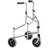 Merits 3-Wheeled Steel Rollator, Push-Down Brake