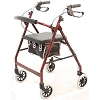 Merits 4-Wheeled Aluminum Rollator, Loop Brake, 6