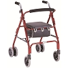 Merits 4-Wheeled Aluminum Rollator, Push Down Brake
