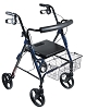 Drive Medical D-Lite, Aluminum Rollator with Removable 8
