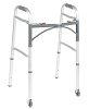 Drive Medical Deluxe Folding Walker, Two Button with 3