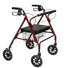 Drive Medical Go-Lite Bariatric Steel Rollator