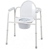Merits Deluxe 3-in-1 Steel Commode