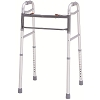 Merits Deluxe Aluminum Folding Walker, Universal size, two button W132-4 Universal / W133-4 Universal