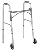 Drive Medical  Folding Walker, Two Button with 5