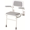 Merits Padded Wall Mounted Shower Seat with Arms and Back