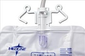 Ultimate Urinary Drain Bag w/ Reflux Control and Double Hanger, 2000ml