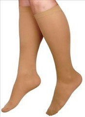 CURAD Knee Length Compression Hosiery 20-30mmHg (Beige)