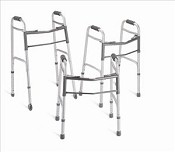"Deluxe Adult Folding Walker w/ 5"" wheels"