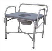 Bariatric Drop Arm Steel Commode