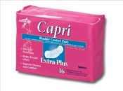 "Capri Bladder Control Pads, 2.75""x9.75"" (Case of 180)"