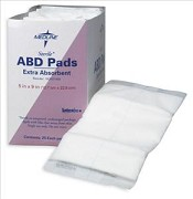 Abdominal (ABD) Pads, 8x10, Sterile (Box of 18)