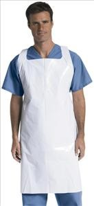 Pullover-Style Apron, White (Case)
