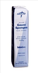 Non-Sterile Gauze Sponges, 2x2, 12-ply (Pack of 200)